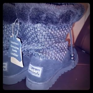 Women's Skechers Boots Genuine Suede Leather